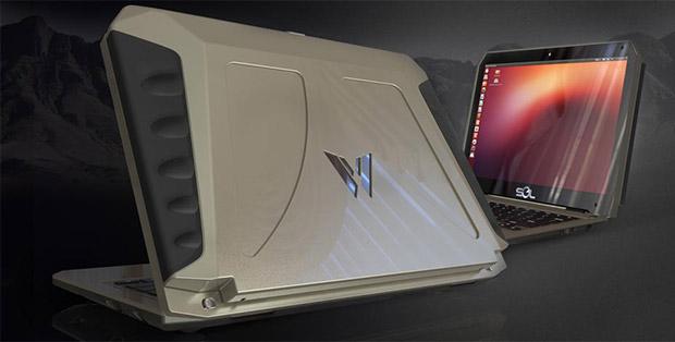 SOL, el portátil con Ubuntu que se carga con energía solar.
